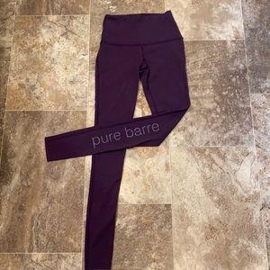 Pure Barre x Splits59 Purple Leggings, XS